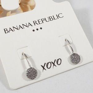 Banana Republic Circular Pave Drop Earrings NWT